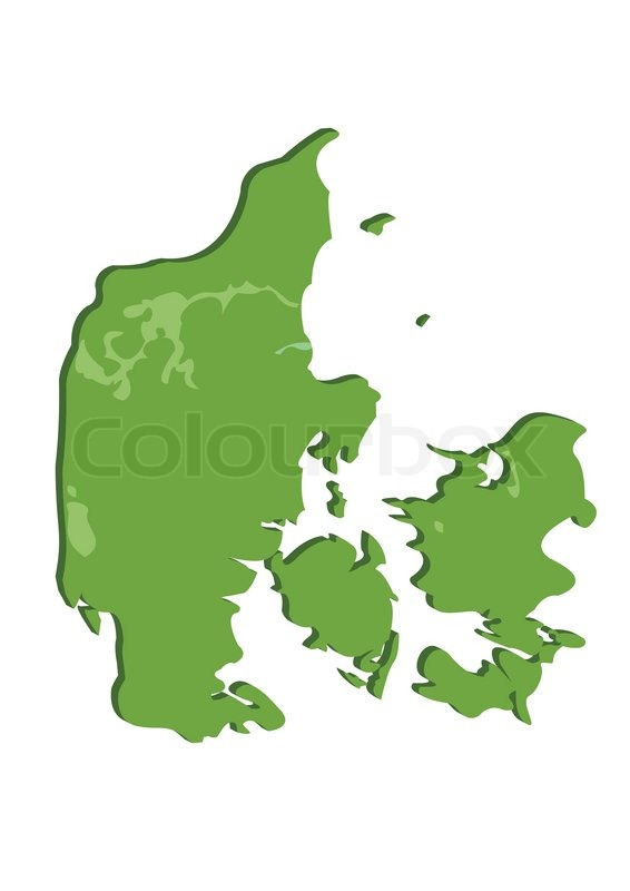 Stock vector of 'Vector illustration of a map over Denmark'