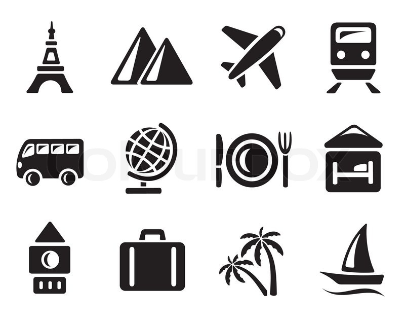Travel icon set | Stock Vector | Colourbox