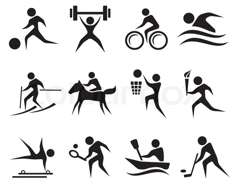 Sport icon set | Stock Vector | Colourbox Badminton Set