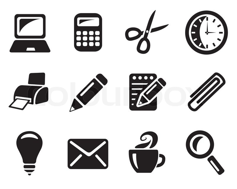 Stock vector of 'Office icon set'