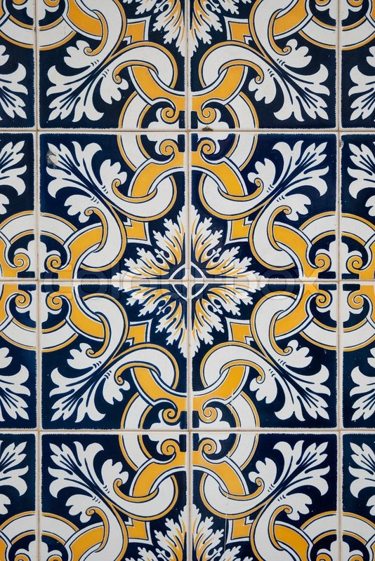 Traditional Spanish Ceramic Tiles Stock Photo Colourbox