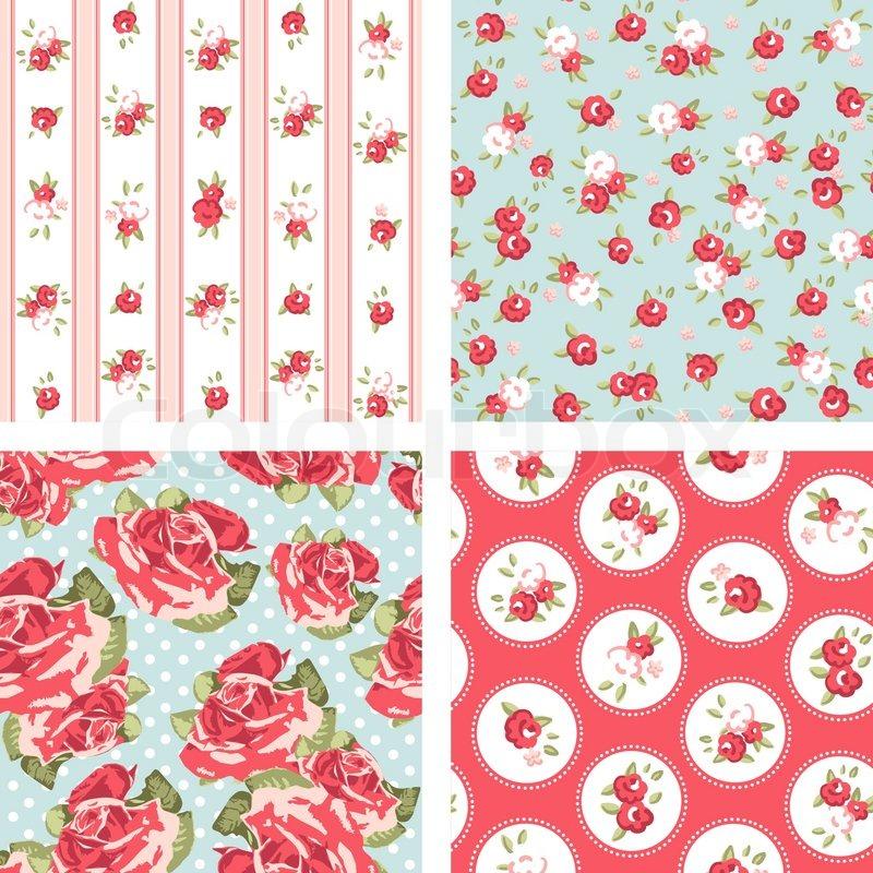 Vintage Rose Wallpaper Vector Seamless Vector Rose Wallpaper