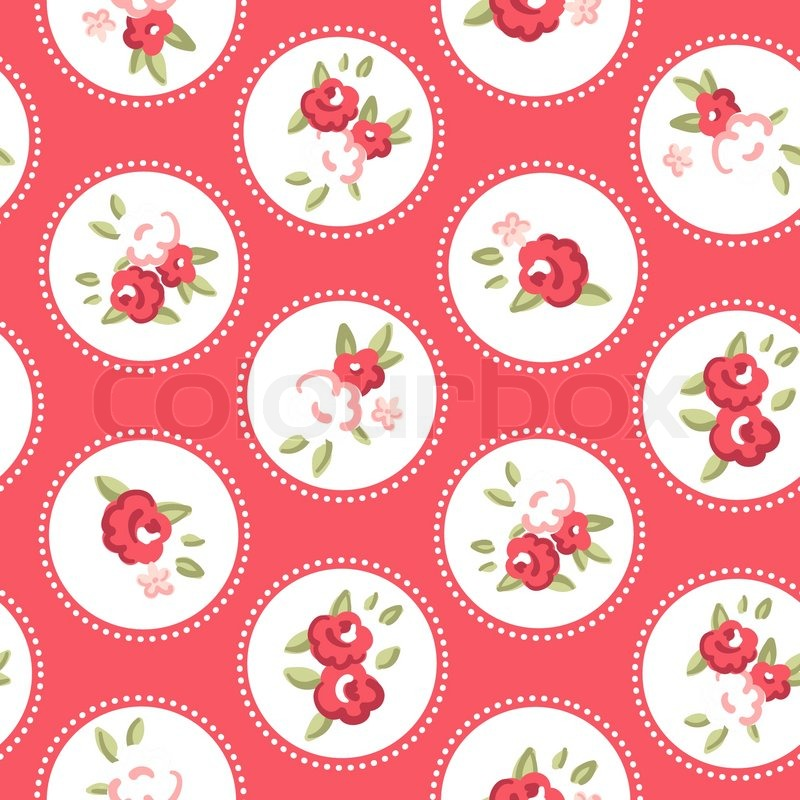 Vintage rose pattern Seamless vector Retro rose wallpaper ...