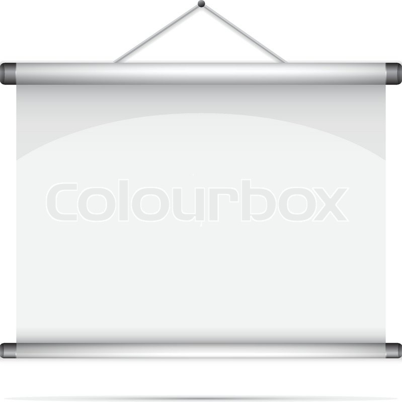 Blank Roll Up Poster Vector