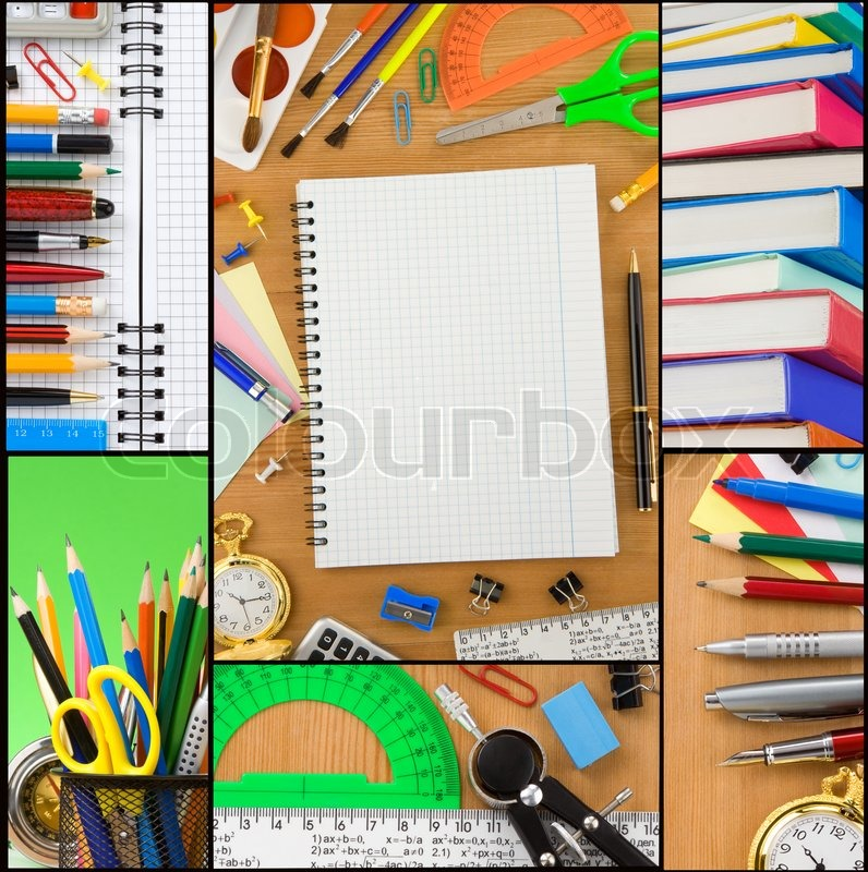 Back To School Collage Stock Photo Colourbox
