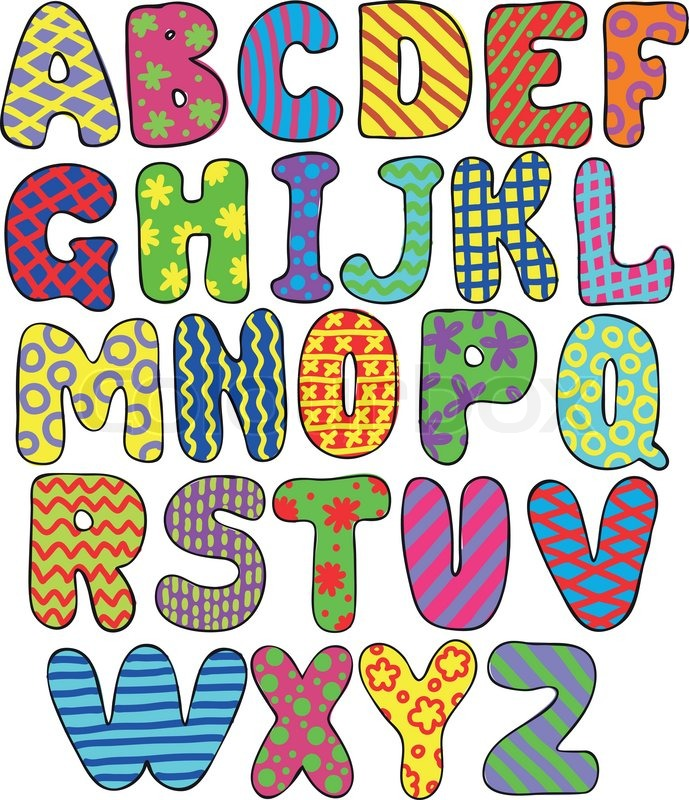 picture about Colorful Alphabet Letters Printable identified as Colourful alphabet Inventory vector Colourbox