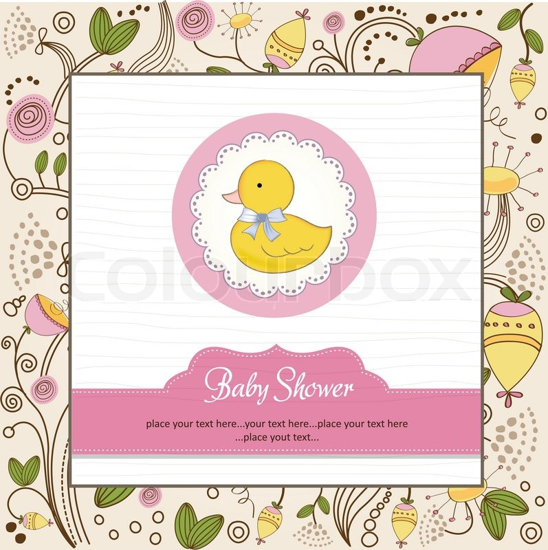 Baby shower invitation with duck stock vector colourbox baby shower invitation with duck vector stopboris Images