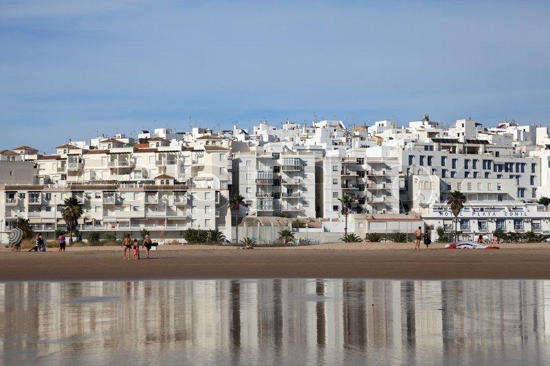 Conil De La Frontera Spain  city photos : Editorial image of 'Beach at Conil de la Frontera, Andalusia Spain'