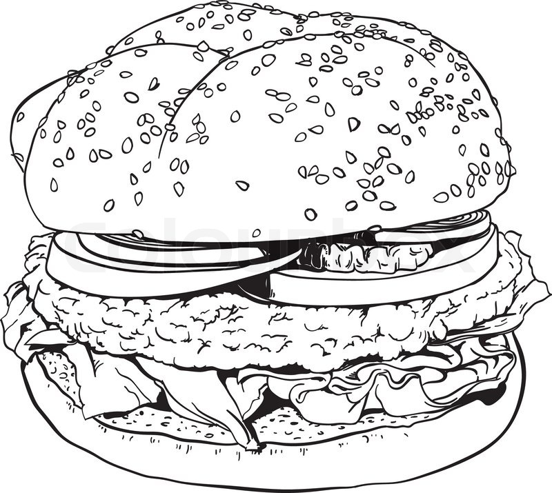 Barbeque Party Poster Gg97873898 likewise Hamburgers Cliparts additionally High Detailed Hand Drawn Illustration Of A Hamburger Vector 4357931 furthermore Fast Food Doodle Icons Hand Made 431863513 further Barbeque. on bbq burger clip art