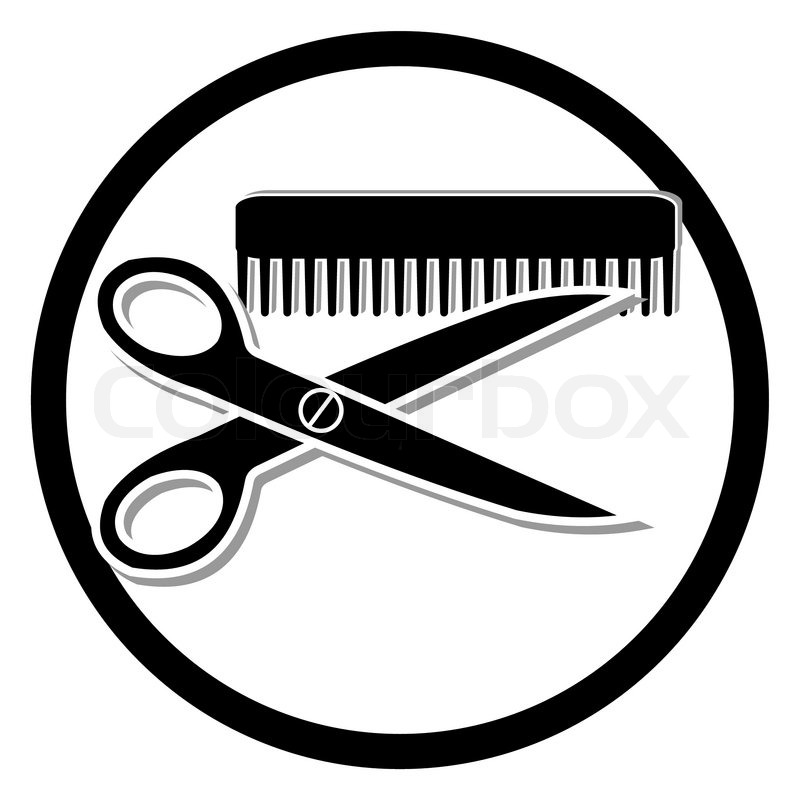 Haircut Or Hair Salon Symbol Stock Vector Colourbox