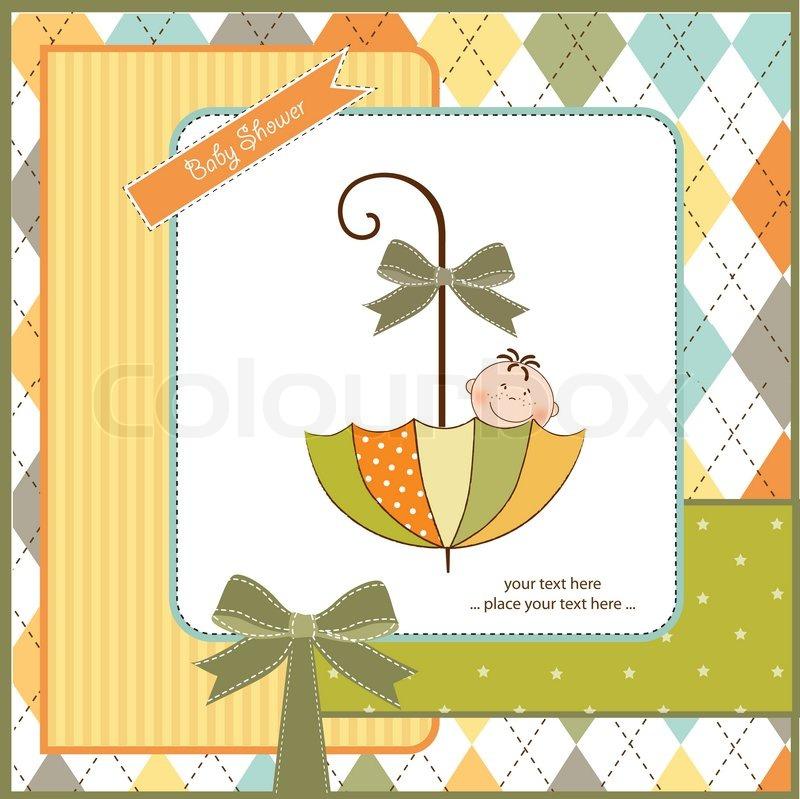 Baby Shower Wiki: Baby Shower Card With Little Boy