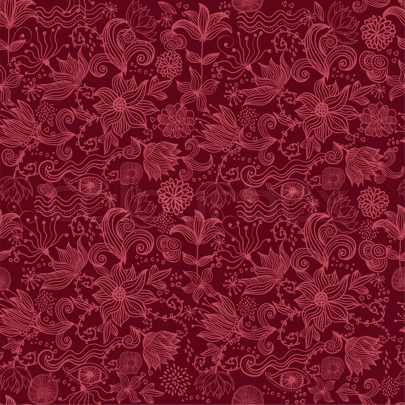seamless vector texture with flowers stock vector