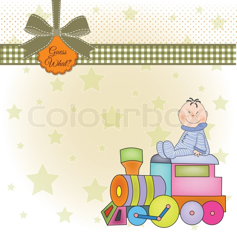 Customizable birthday greeting card with train | Stock Vector | Colourbox