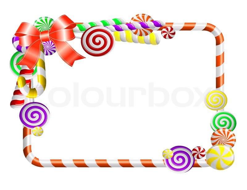 frame with colorful candies