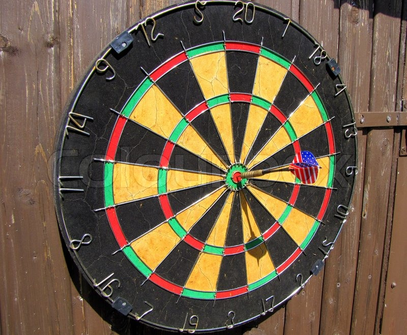 darts bullseye stock photo colourbox