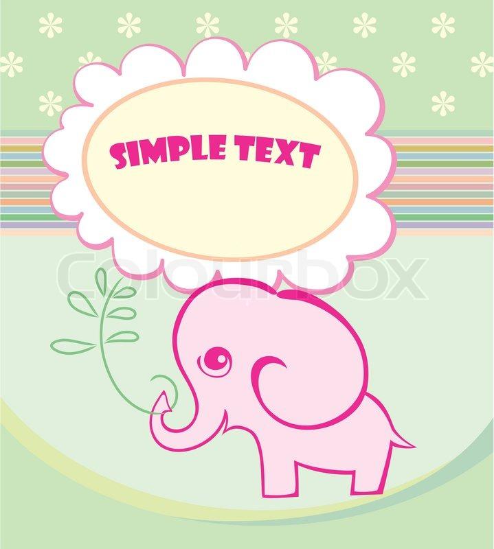Elefant ist eine große Blume. Herzlichen Glückwunsch zu den Urlaub ...