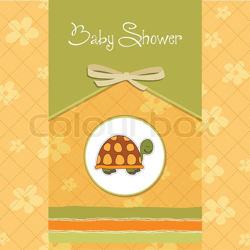 funny baby shower card stock vector colourbox