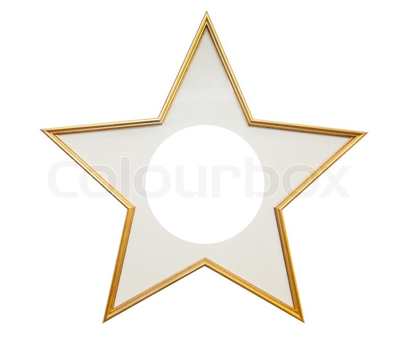 stock image of wooden frame in star shape