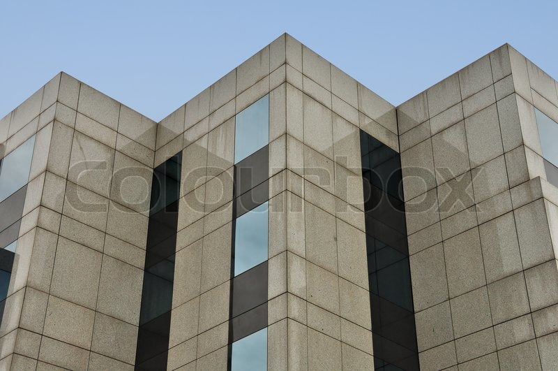 Modern Building Marble And Glass Facade Corners Abstract