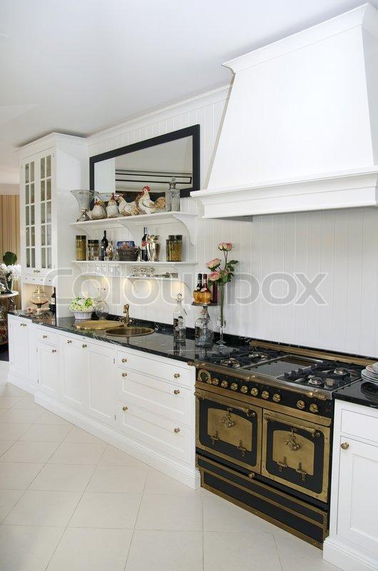 innenausstattung kochen essen stockfoto colourbox. Black Bedroom Furniture Sets. Home Design Ideas