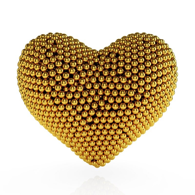 Golden heart | Stock Photo | Colourbox