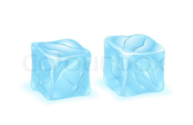 Ice Cube Stock Vector Colourbox