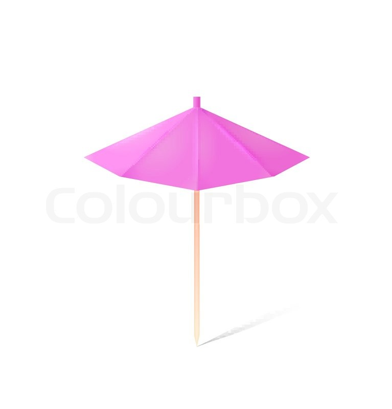 Umbrella For Drink Isolated On White Stock Vector