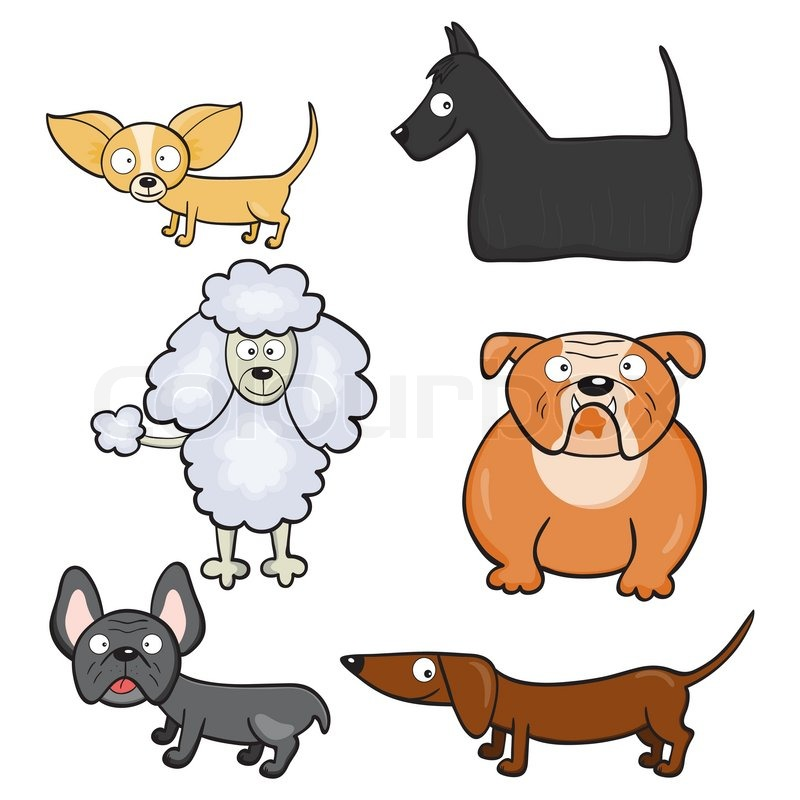 cartoon dogs stock vector colourbox