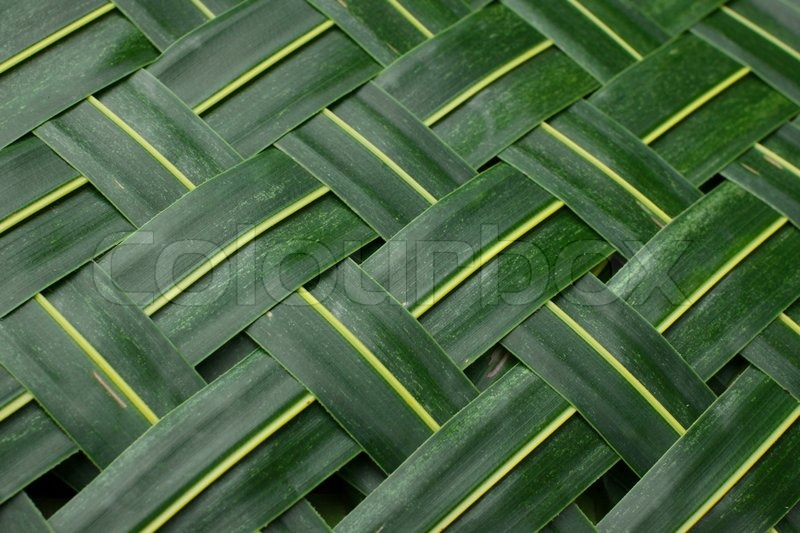 Background Weaving From Palm Leaves Stock Photo