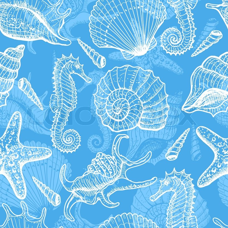 sea seamless pattern original hand drawn illustration in ocean animal clip art free ocean animal clip art to print