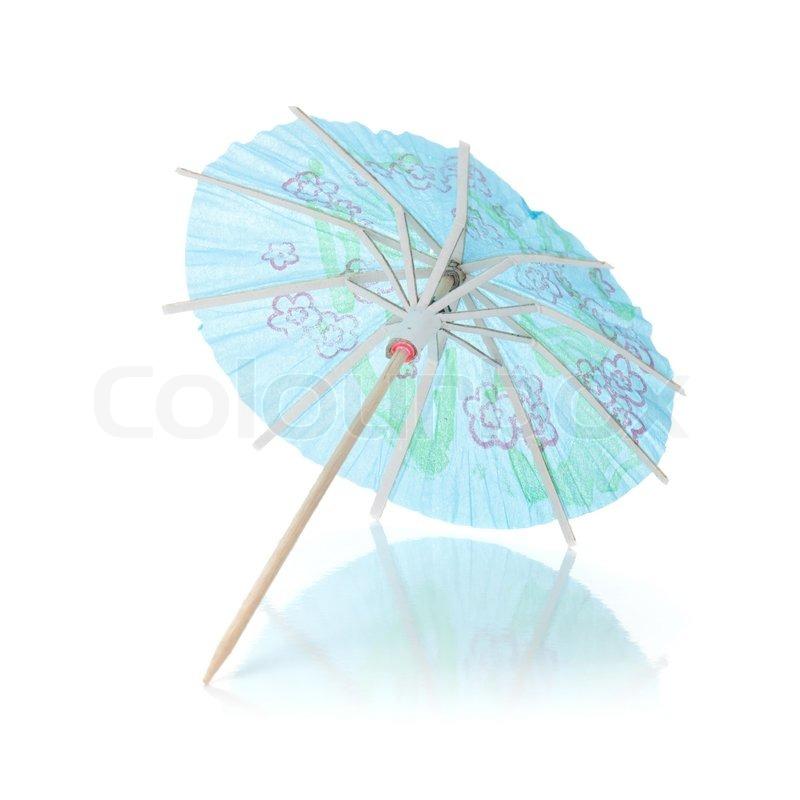 Blue Cocktail Umbrella, Stock Photo