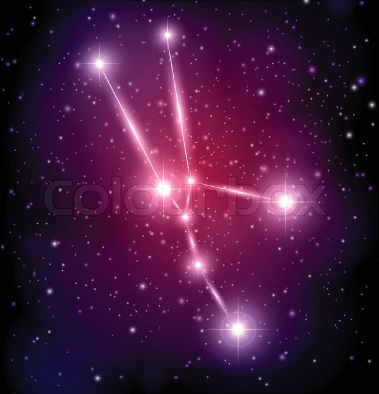 With Stars And Taurus Constellation Stock Vector Colourbox