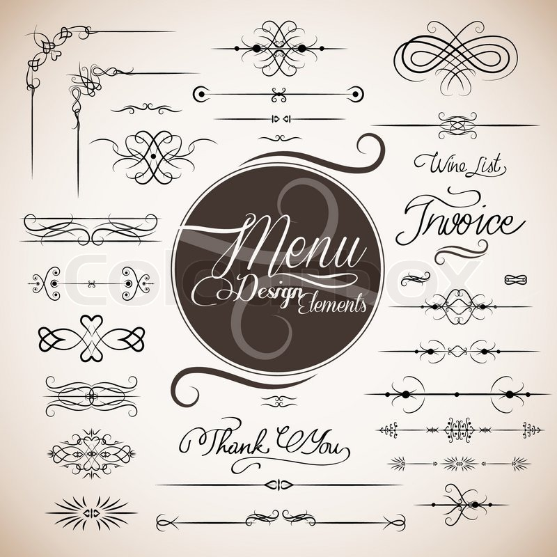 Restaurant menu design template vector stock