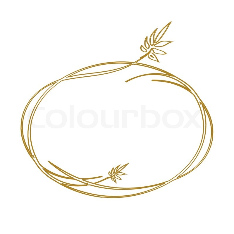 golden vintage frame vector stock vector colourbox