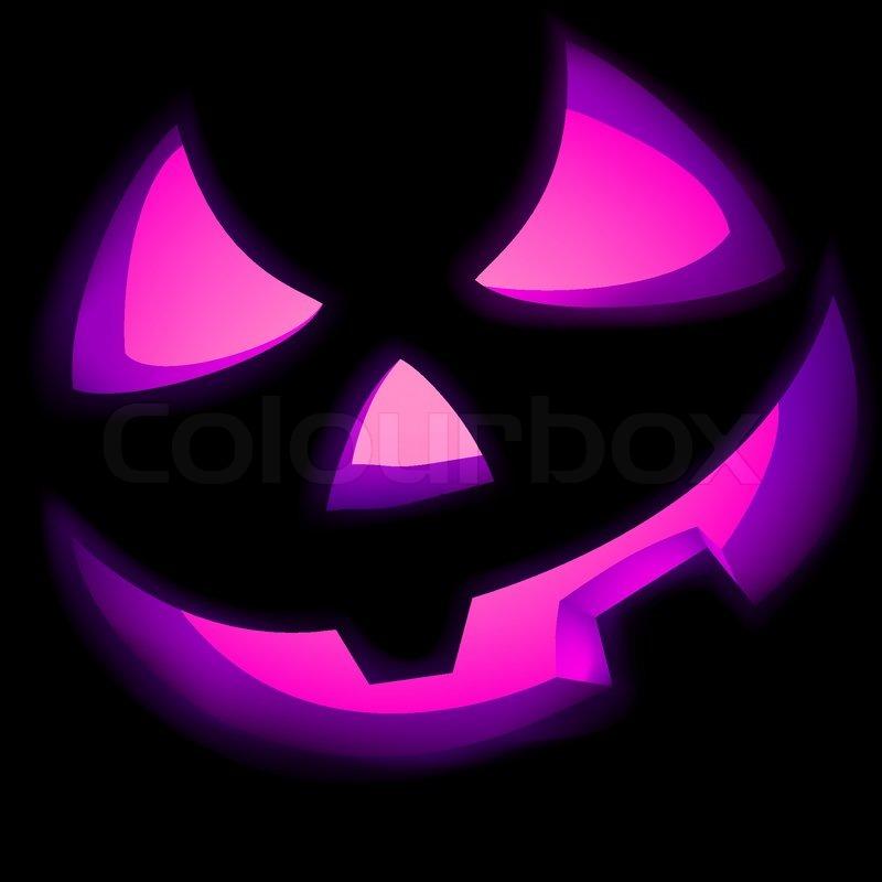 Jack O Lantern Kürbis beleuchtet   Stock Vektor   Colourbox