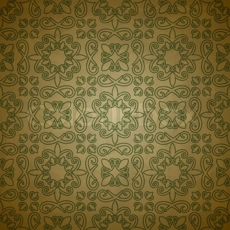 Vector seamless pattern on grungy background with crumpled ...
