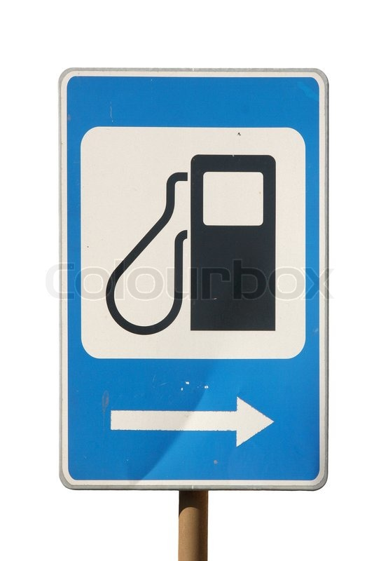 Find A Gas Station >> Petrol filling station sign | Stock Photo | Colourbox
