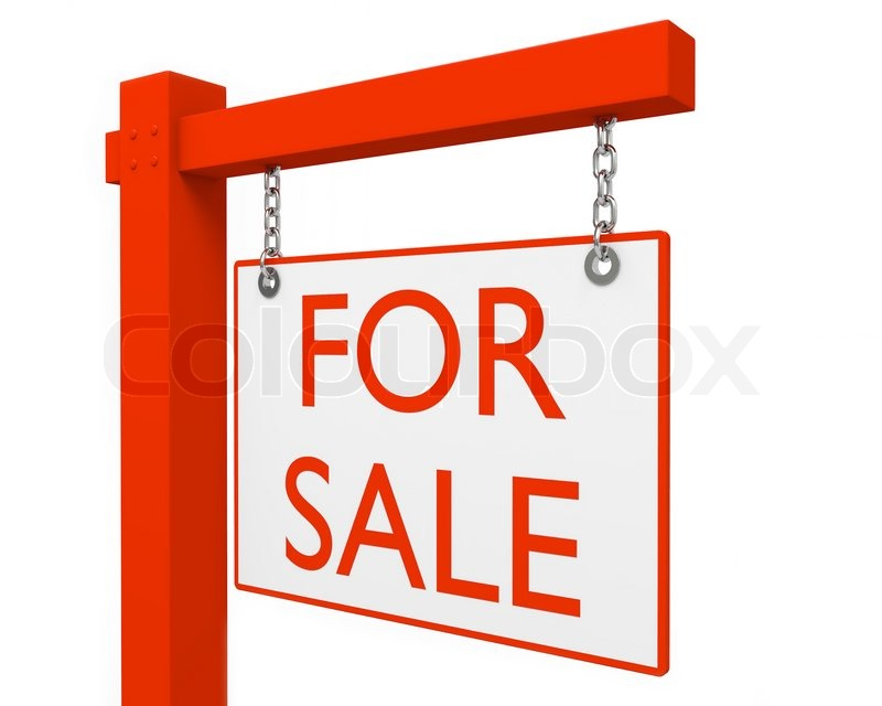 red for sale sign