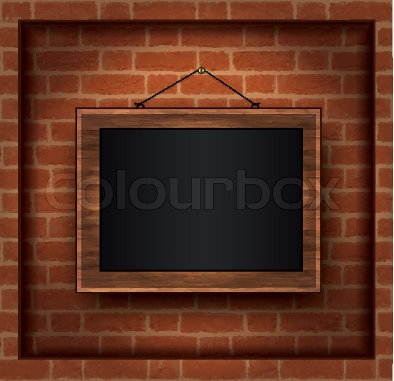 Vektor Tafel Holz-Rahmen-Wand | Vektorgrafik | Colourbox
