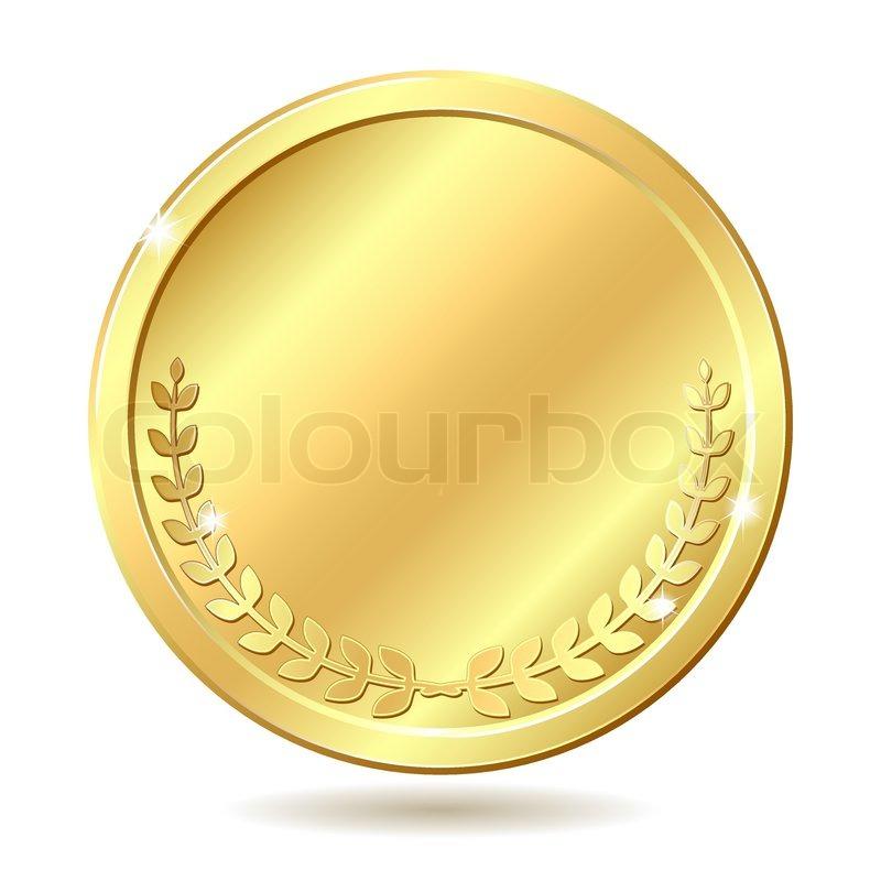 golden coin stock vector colourbox