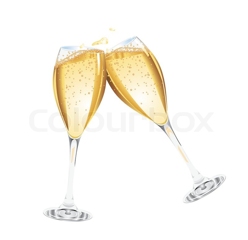 Two glasses of champagne vector stock vector colourbox for Copas de champagne