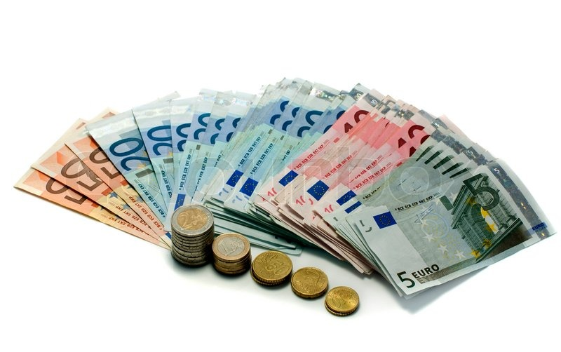 Euro Money Paper And Coins Stock Photo Colourbox