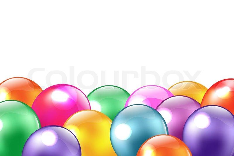 balloon border stock vector colourbox