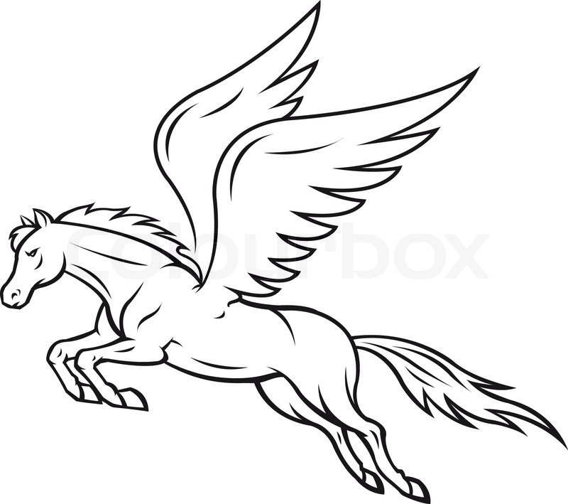 Coloring Pages Winged Pony