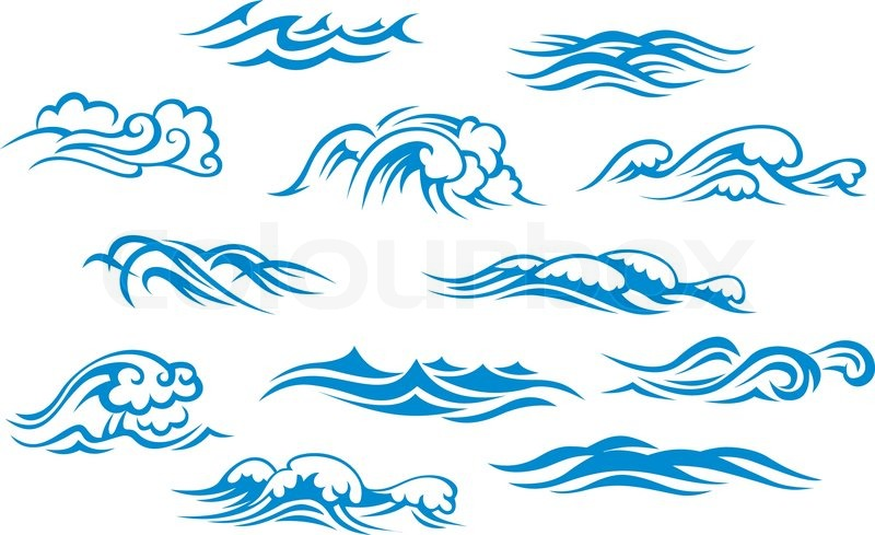 ocean and sea waves stock vector colourbox face painting clip art black and white Cupcake Clip Art Black and White