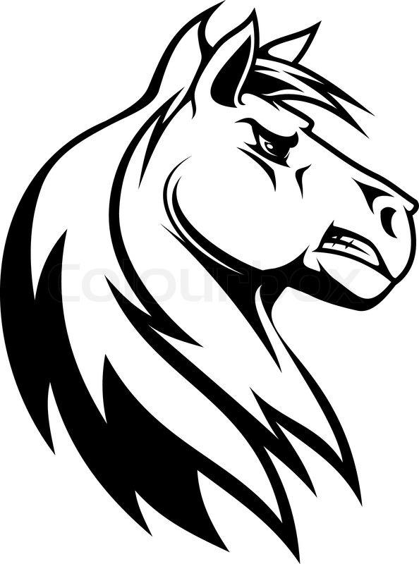 Pferd Silhouette Vektorgrafik Colourbox