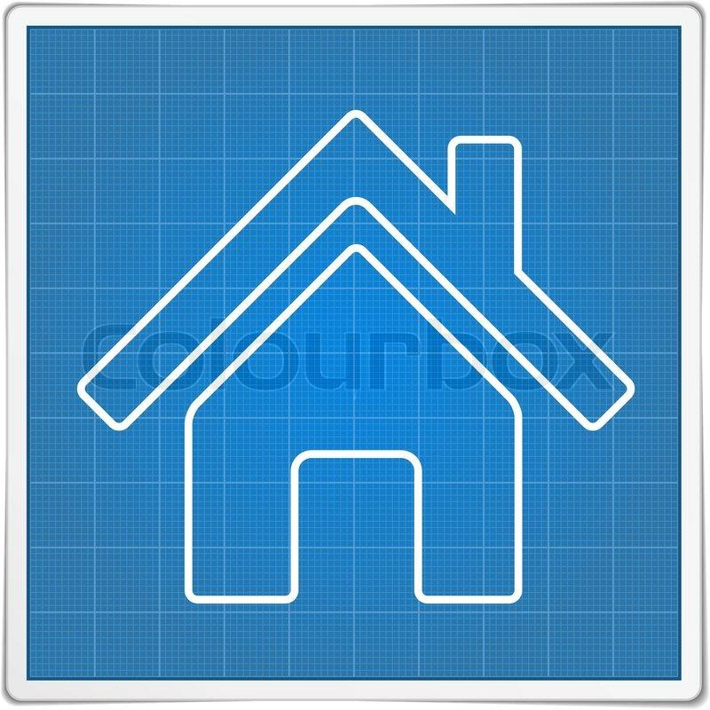 Blueprint house icon stock vector colourbox malvernweather Image collections