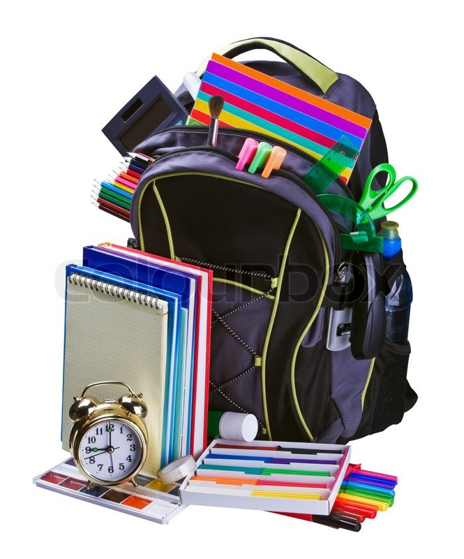 15 Articles To Help Organize Your Home For The New Year: Backpack For School Stationery Learning