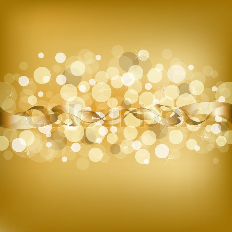 Gold Background With Ribbon Stock Photo Colourbox