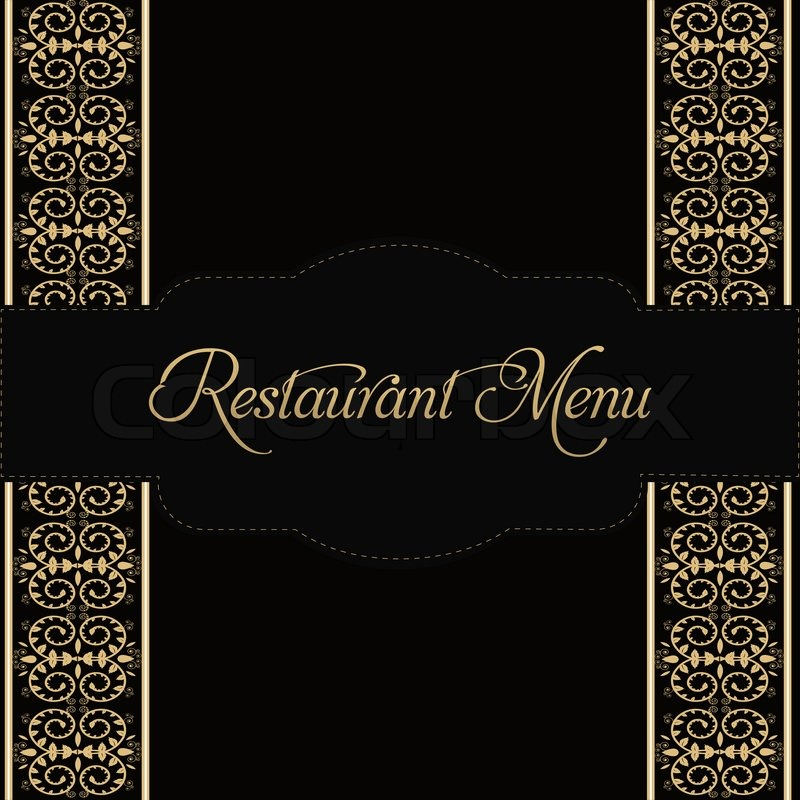 restaurant menu design stock photo colourbox